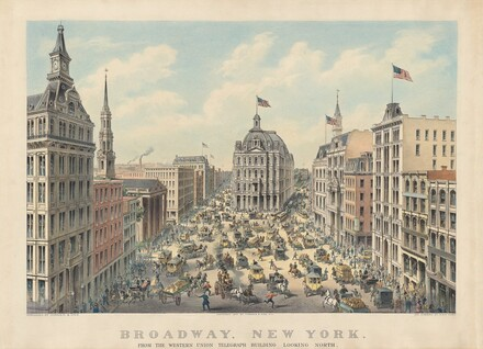 Broadway, New York: From the Western Union Telegraph Building, Looking North