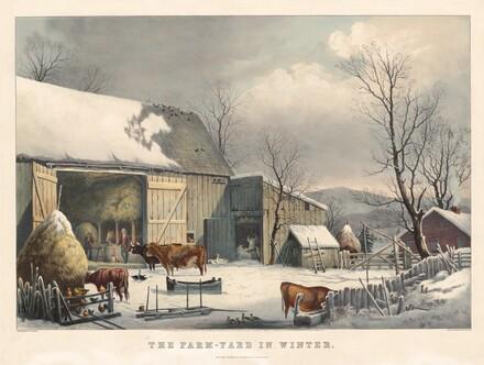 The Farm-Yard in Winter