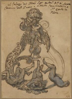 Door Knocker with Zeus Vanguishing Giants