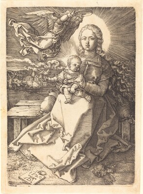 The Virgin and Child Crowned by One Angel