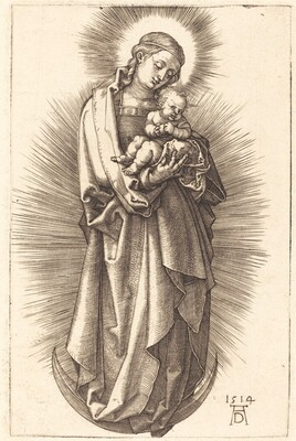 The Virgin and Child on a Crescent with a Diadem