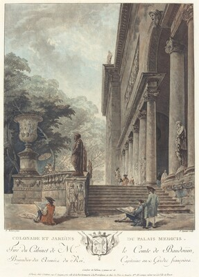 Colonade et Jardins du Palais Medicis (Colonnade and Gardens of the Medici Palace)