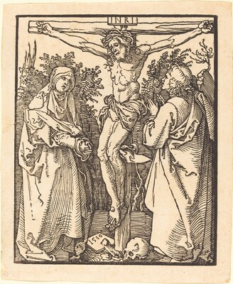 Christ on the Cross with Mary and Saint John