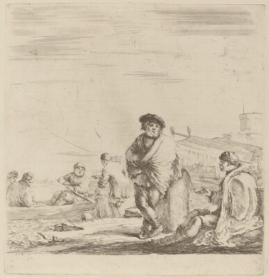 Standing Sailor Talking with a Seated Levantine