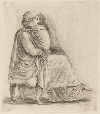 Woman Seated on a Stool