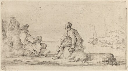 Sailors Seated on a Bank