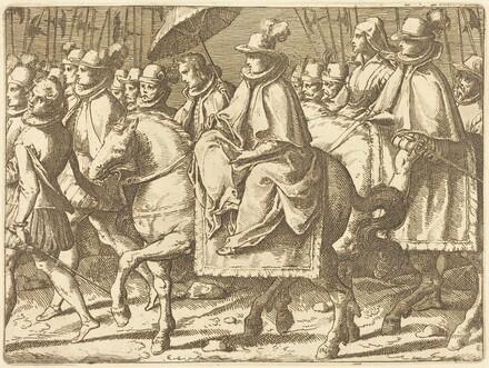 Margaret of Austria on Horseback