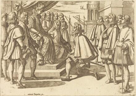 Spanish Duke before Margaret of Austria