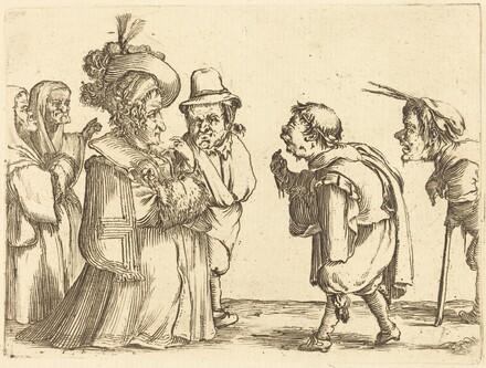 A Lady Greeted by a Dwarf