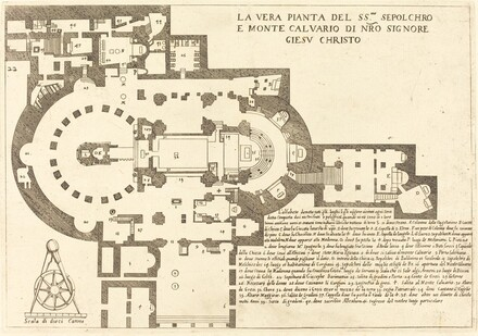 Plan of the Holy Sepulchre and Mount Calvary