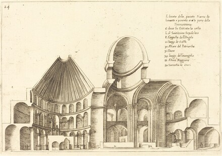 Cross-Section of the Church of the Holy Sepulchre