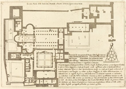 Plan of the Church of the Holy Nativity