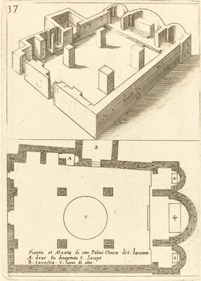 Plan and Elevation of the Church of S. Iacoma