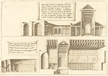 Elevation of Churches including the Holy Manger