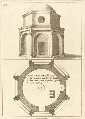 Plan and Elevation of the Church of the Ascension