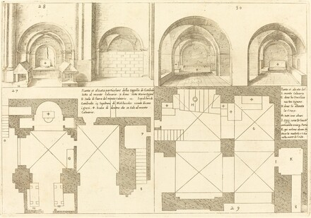 Plan and Elevation of the Chapel of Godefroy de Bouillon