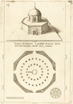 Plan and Rendering of the Temple of Solomon