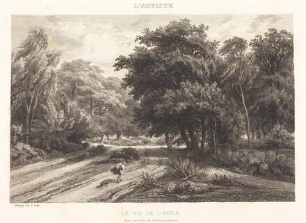 The Eagle's Nest in the Forest of Fontainebleau (Le nid de l'aigle dans la Foret de Fontainebleau