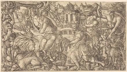 A King and Diana Receiving Huntsmen