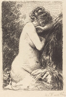Weeper: Study of a Nude Woman, Seated with Profile to Right