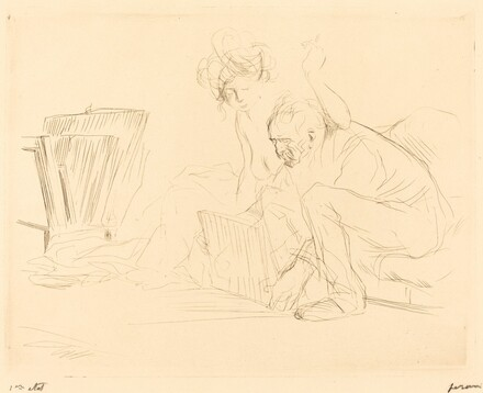 The Model's Rest (second plate)
