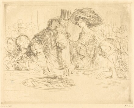 At the Gambling Table (second plate)
