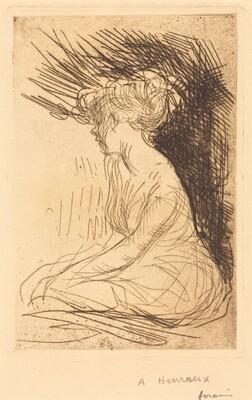 Woman Seated in Profile