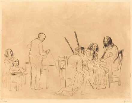 Before the Supper at Emmaus (first plate)