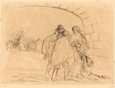 The Meeting under the Arch (first plate)