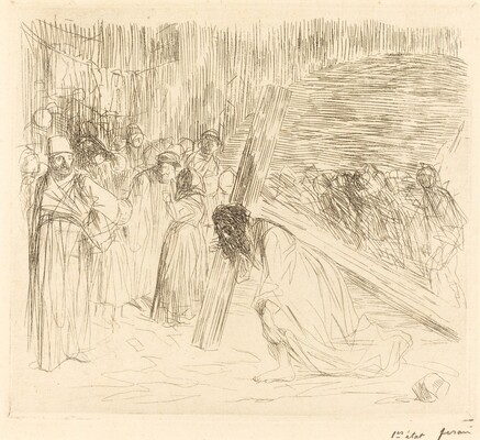 Christ Carrying the Cross (fifth plate)