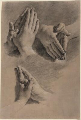 Three Studies of Hands Clasped in Prayer