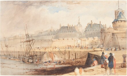 The Harbor of St. Malo at Low Tide