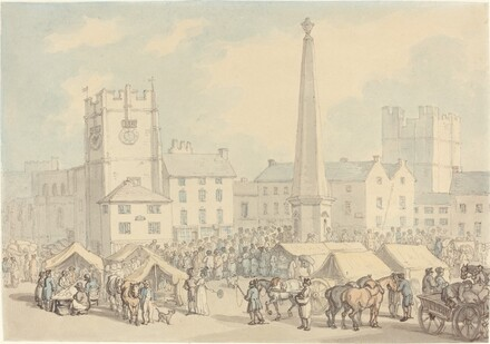 Market Day at Richmond in Yorkshire