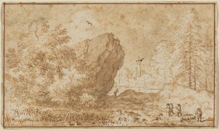 Landscape with Large Rock