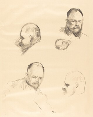 Four Sketches of Ambroise Vollard
