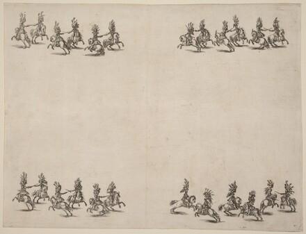Cavaliers Fighting with Swords