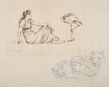 Woman and a Crane (Vigilance?)