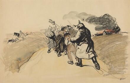 German Raid on a Village