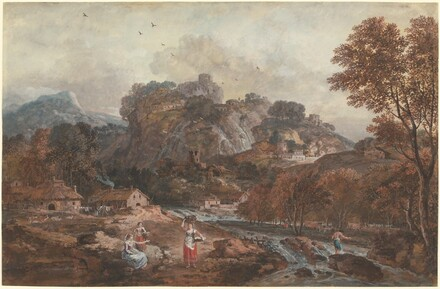 Mountain Landscape with Washerwomen and a Fisherman