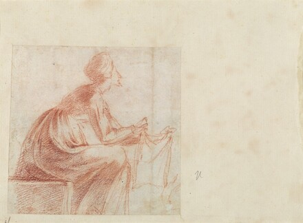 Woman Seated with a Piece of Cloth [verso]