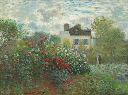 The Artist's Garden in Argenteuil (A Corner of the Garden with Dahlias)