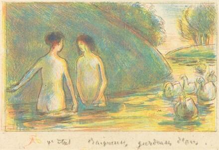 Baigneuses, gardeuses d'oies (Bathers Tending Geese)