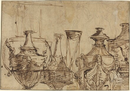 Designs for Vases [verso]