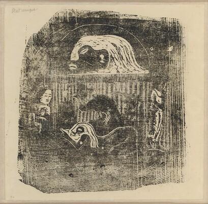 Te Atua (The Gods) Small Plate [verso]