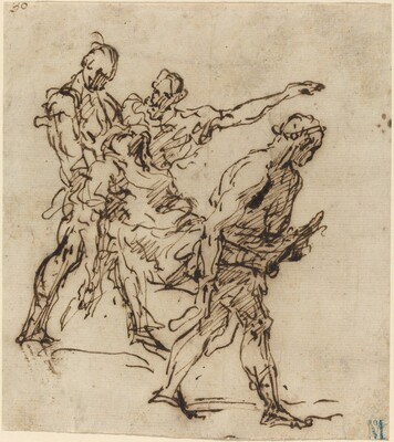 Figures Carrying a Body