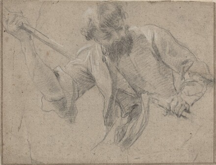 A Bearded Man with a Staff