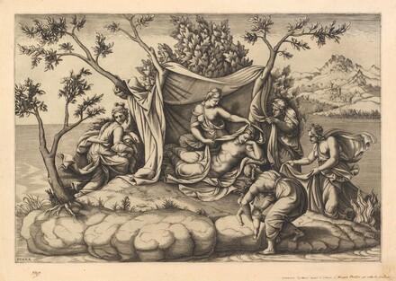 Latona Giving Birth to Apollo and Diana on the Island of Delos