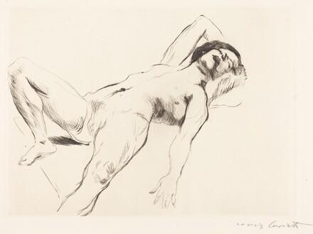 Reclining Female Nude - I  (Liegender Weiblicher Akt I)
