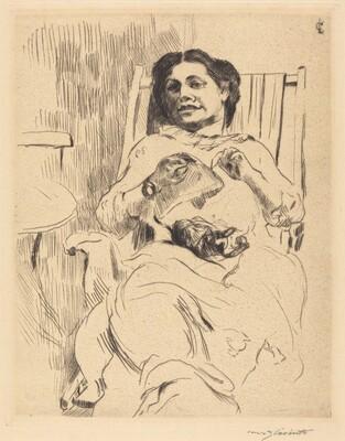 Woman with Needlework (Frau mit Handarbeit)