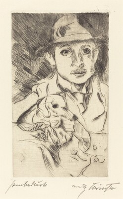 Boy with Dog (Knabe mit Hund)